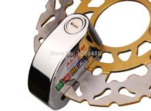 Motorcycle alarm disc lock,7mm Motorbike Motorcycle Wheel Disc Brake Lock Security Anti Thief Alarm, Free Shipping(China (Mainland))