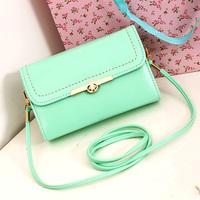 Fashion small messenger bag women's cross-body handbag candy color women's lock clad cover type girl sweet shoulder bags