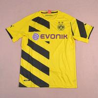 BORUSSIA DORTMUND HOME BVB 09 2014-2015 Top Thai Quality Soccer jersey football kits Uniform Shirts RUIZ LEWANDOWSKI GUNDOGAN