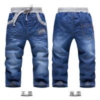 Kk rabbit children's clothing single tier child jeans trousers PANTS  sl1042