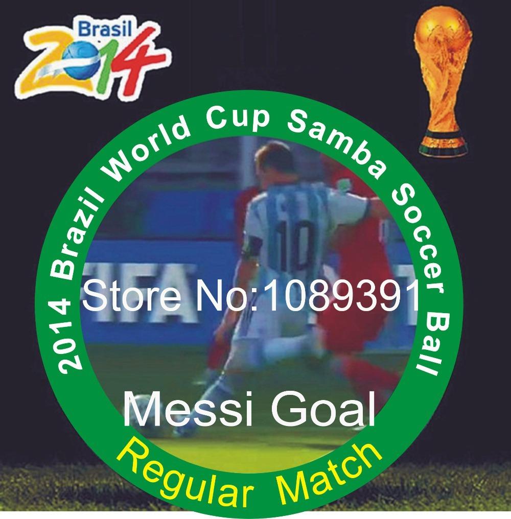 Soccer Ball 2014 Brazil Word Cup Known Brand Soccer Ball High Quality Anti-Slip PU Size 5 Football ball Soccer ball(China (Mainland))