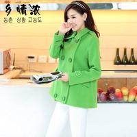 New 2014 casacos femininos women coat Women's Slim Double-breasted Woolen Coat Autumn Winter wool coat winter coat women 610