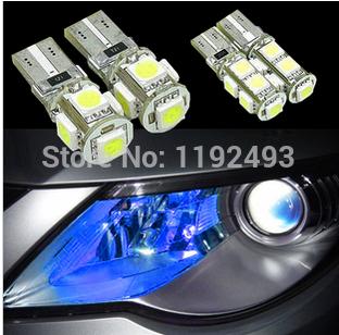 Wholesale T10 5050 Led Canbus Car Smd Light + W5w 194 5smd 5 Bulb No Obc Error for kia lada buick hyunda(China (Mainland))