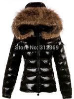 Free Shopping Women's Fur Collar Hooded Down Jacket Short Design Best Quality Warm Winter Jacket Fashion Brand Lady's Down Coat