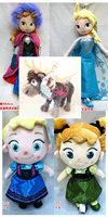 Cartoon Frozen Doll  2014 New Childhood Elsa/Anna Plush Doll 30CM Kids Dolls for Girls Chilidren toy free shipping