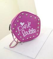 7 colors 2014 spring and summer new chain rivet bag shoulder bag Messenger bag ladies fashionable tide pentagram package