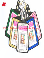 Bling Diamond Vertical PU Leather ID Name Badge Holders Credit Card Case 100pcs/lot  Wholesale