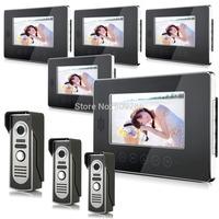 "2014 New Top Fashion free Shipping Video Doorphone & 7"" TFT LCD Indoor Monitor & Video Intercom System XSL-V70T-M2 3*5"