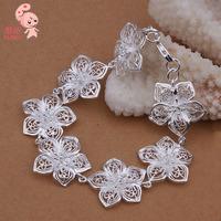 Hot Sale New Fashion Plated Sterling silver Mesh Wrap Bracelet for women  Wholesale KUNIU317