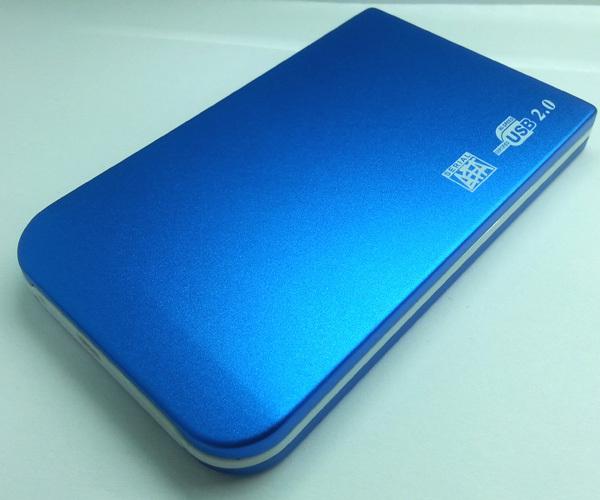 "NEW Blue Hard Drive Disk HDD Case Box Enclosure 2.5"" EXTERNAL CASE 2.5 SATA disque dur USB2.0 Boitier externe Serial ATA(China (Mainland))"