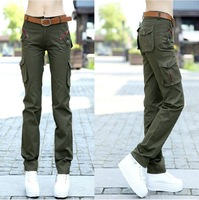 HD-09 New 2014 spring summer Camouflage cargo pants women military Sports outdoor fashion Casual hip hop pants women sport