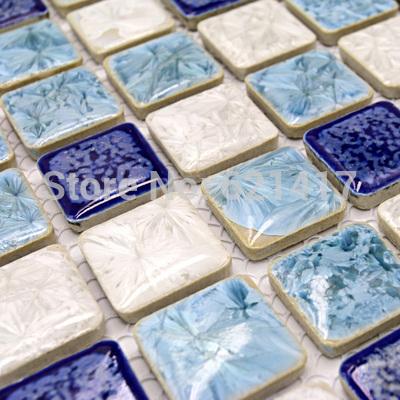 luz azul de porcelana polido telhas cerâmicas de cozinha mosaico piso backsplashl telha do banheiro telhas telhas cerâmicas da parede(China (Mainland))
