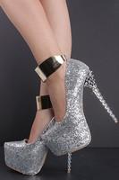 2014 new fashion silver rivet platform high heels sapato women shoes pumps femininos ladies sapato de noiva dress brand shoes