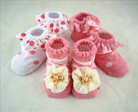 Spring and summer baby thin cotton socks baby socks child female child sock breathable lace decoration baby socks