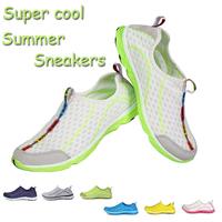 2014 Top brand breathable women men sneaker Hot women sport Running shoes Summer Outdoor men casual shoesUltra-light Size 35-44
