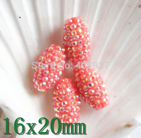 Loose resin beads s 16x20mm DIY Shamballa resin rhinestone beads resin kits 1 35 scale barbarossa include 11 soldiers resin model diy toys
