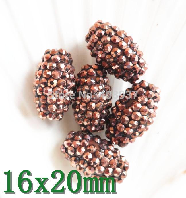 Loose resin beads 50 16x20mm . resin rhinestone beads loose
