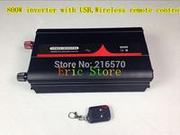 NEW! 800W Pure sine wave inverter DC12V 24V 48V AC100V 110V 120V 220V 230V 240V with USB,Wireless remote control  (CTP-800W-WS)