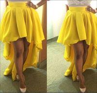 2014 New Women gold fashion ruffles asymmetrical trumpet skirt fiesta gowns party skirt evening skirt YQ064