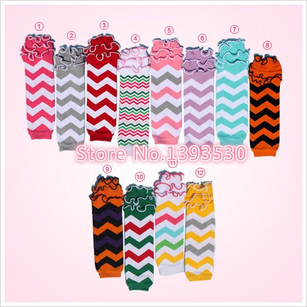 Kaiya Wholesale Halloween Christmas Baby Chevron Leg Warmers Knitting Leg Warmers with Ruffles 20prs/ lot Free Shipping(China (Mainland))