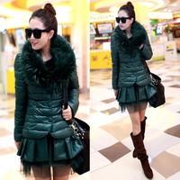 new 2013 Fashion Ladies Winter thick Hoodies Zipper Jacket,Woman Fur Collar Jackets Parka Outerwear Stock Ready Drop