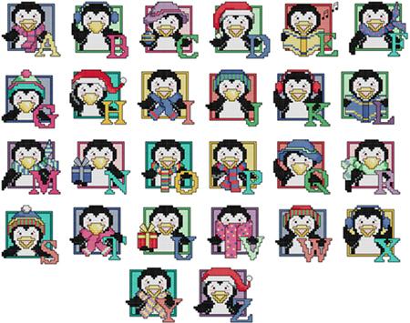 X-X-FISH-Cross-Stitch-Crazy143-1cartoon-penguin-alphabet