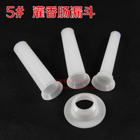2014 Freeshipping Ciq White Cooking Tools Burger Press Meat Household 5 Sausage Filling Funnel Enema Specialty Tool Set 3 Tube