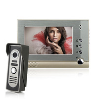 "7"" LCD Color Video door phone Intercom System 700tvl Weaterproof Night vision Camera"