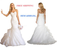 E14 2014 fashionable white bride organza wedding dress train plus size custom made bridal gown gowns vestido de noiva casamento
