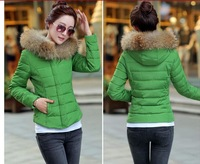 Free Shipping 2014 New Arrival Autumn Cotton Padded Coat Women Winter Jacket Outerwear Short Design M815 Seven Colors