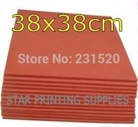 2pcs Heat Press Machine Silicone Pad Mat 38x38cm High Temperature Resistant for heat transfer sublimation
