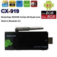 CX-919 Quad Core Android 4.4 MINI TV PC BOX Cortex-A9 2GB RAM 8GB ROM CX919 Bluetooth 4.0 XBMC Media Player DLNA Dongle Stick