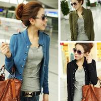 2014 Women Coats And Jackets Women's Long Sleeves Double Breasted Slim Short Coat Women Jacket Autumn AS1424