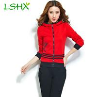 2014 autumn women's casual sports set outerwear fashion thin sweatshirt