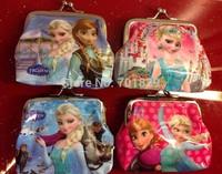 New Arrival10pcs/lot baby girls Frozen Coin Purses/kids Snow Queen wallet/chilldren princess Elsa Anna money bag,party supplies
