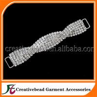 cheap rhinestone crystal bikini connector for free shipping