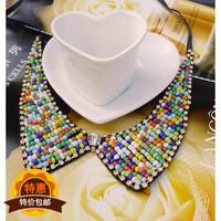 Vintage collar diamond chain collar all-match female colorful false collar lq-025