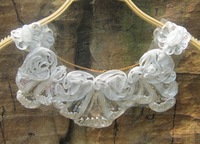 Spring false collar chiffon lace pearl preppy style sweet collar necklace sweet