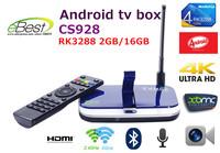 Newest CS928 smart tv box Rk3288 A17 quad core 2GB 16GB Android 4.4 kitkat  2.4/5.0Ghz bluetooth  5.0M camera 4k*2k xbmc