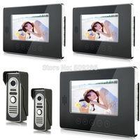 "2014 New Top Fashion free Shipping Video Doorphone & 7"" TFT LCD Indoor Monitor & Video Intercom System XSL-V70T-M2 2*3"