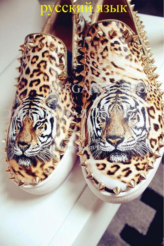 женщины кроссовки с изображением тигра и