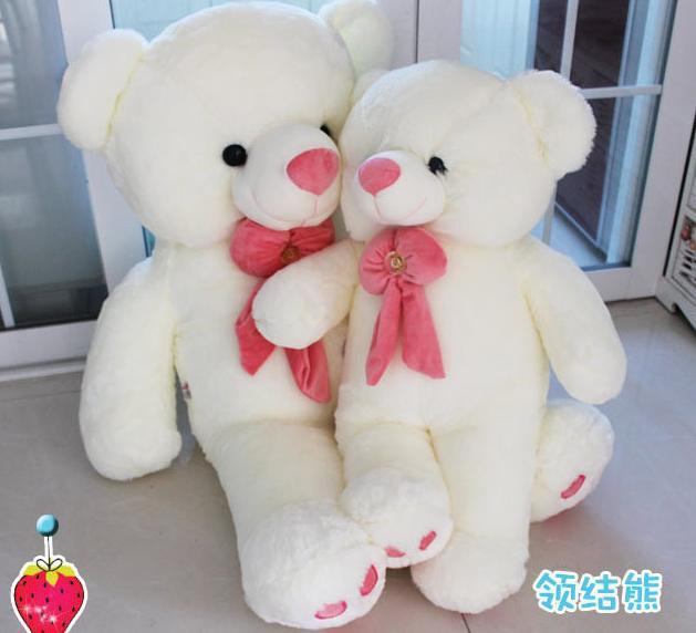 New Factory direct sale plush dolls bears The princess teddy bear 70 cm Tie the bear doll bear wholesale(China (Mainland))