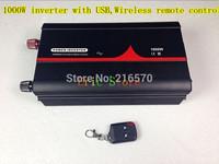 NEW! 1000W Pure sine wave inverter DC12V 24V 48V AC100V 110V 120V 220V 230V 240V with USB,Wireless remote control (CTP-1000W-WS)