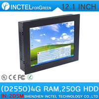 12 inch TouchScreen Mini PC Computer All IN ONE PC Five wire Gtouch using high-temperature ultra thin panel with 4G RAM 256G SSD