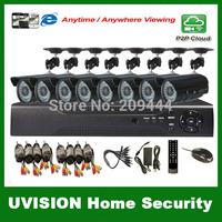 HDMI 16ch DVR Kit CCTV System 8pcs 480TVL Waterproof IR outdoor Cameras 16ch Security Camera system 8x18m cctv cable