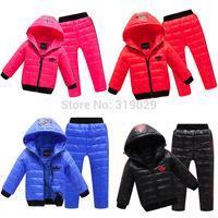 Brand Baby Down coat Children Winter Cold Clothing set Kids Down jacket Boys/Girls Warm Parkas Outerwear