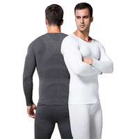 Mens Boys Ultra-Soft Body Shaper Compression Thermal Long Sleeve Under Shirt Top Freeshipping