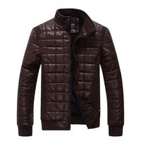 2014 New high quality pu leather jackets for men slim men jacket coat M/L/XL/XXL/3XL