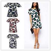 New Women Sexy Leopard Summer Casual Evening Party Mini Dress