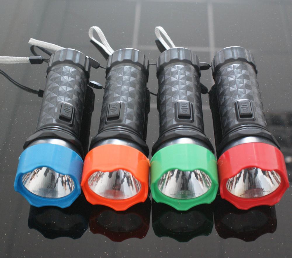 New version highlight LED plastic flashlight pocket lamp(China (Mainland))